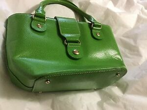 Image Is Loading Excellent Condition Kate Spade Bright Green Leather Tote