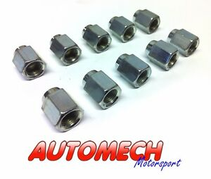 "Automech Brake Pipe union 3/8""UNF for 3/16"" Pipe Pack of 10, Plated Finish (U4)"