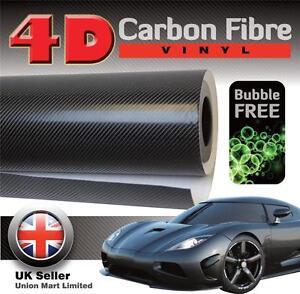 1520mm X 2000 Noir 4d Fibre De Carbone Vinyle Wrap Film Bulle / Air Libre-afficher Le Titre D'origine Soulager La Chaleur Et Le Soleil