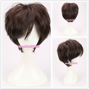Gravity Falls Dipper Pines Short Dark Brown fluffy cosplay wig +a wig cap