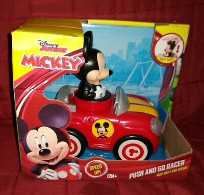 NEW Disney Junior Mickey Mouse Red Car Push and Go Racer w// Light /& Sound 12 m