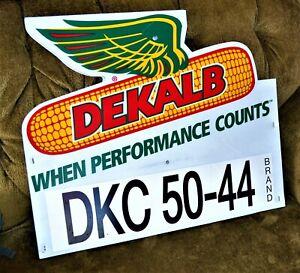 Vintage Plastic Dekalb Seed Corn Sign