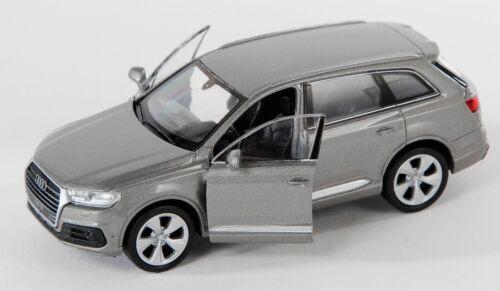 gray Welly Modell Auto 1:34-39 NEU /& OVP BLITZ VERSAND Audi Q7 grau