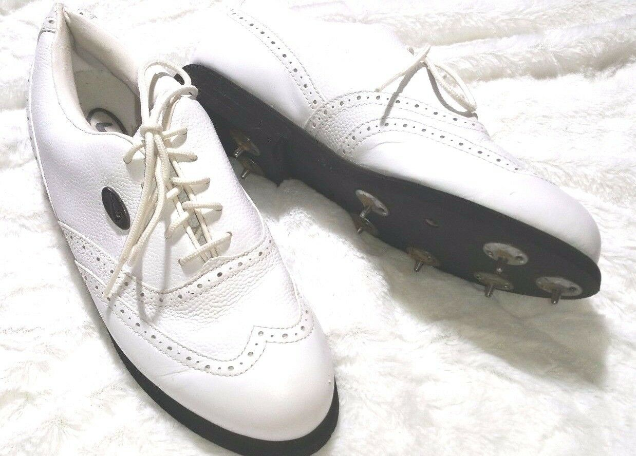 Vintage Women's NIKE GOLF Shoes White Leather Wingtip Comfortable Special limited time