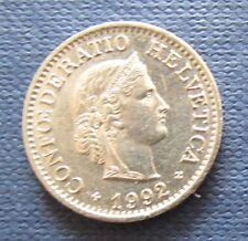 Schweizer Franken 1992 10 Rappen für Sammler aus Umlauf
