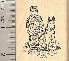 German Shepherd K-9 police dog rubber stamp H11011 WM