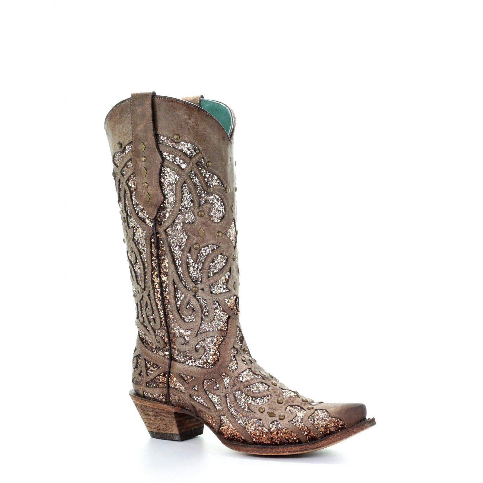 Corral Ladies Orix Glitter Inlay and Studded Western Boots C3331