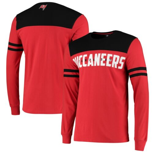 Tampa Bay Buccaneers Cut And Sew Long Sleeve T-Shirt Red Mens Crew Neck