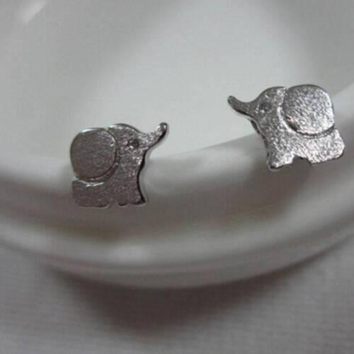 1 Paire Femmes Mignon Fashion Silver veau éléphant Clous D/'Oreilles Boucles D/'oreilles Bijoux Cadeau