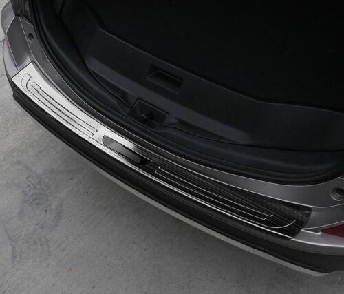 Black Titanium Outer Rear Bumper Protector Cover Trim For 2016-2018 Toyota RAV4