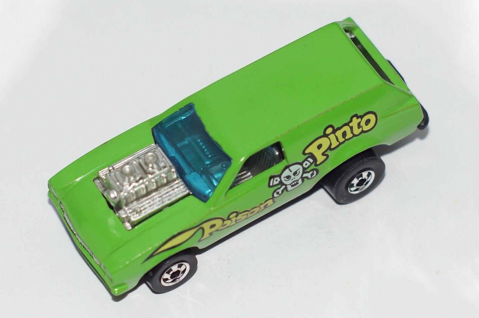Original Hot Wheels drag strip-teaseuses-Poison Pinto-Vert-BWS-fond noir