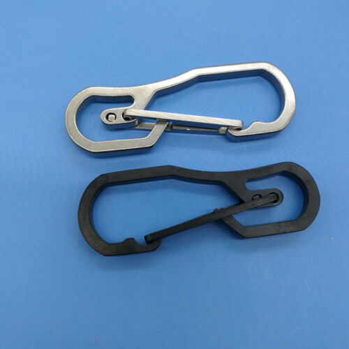 Outdoor Portable Stainless Steel Buckle Carabiner Keychain Hook Key Ring Clip