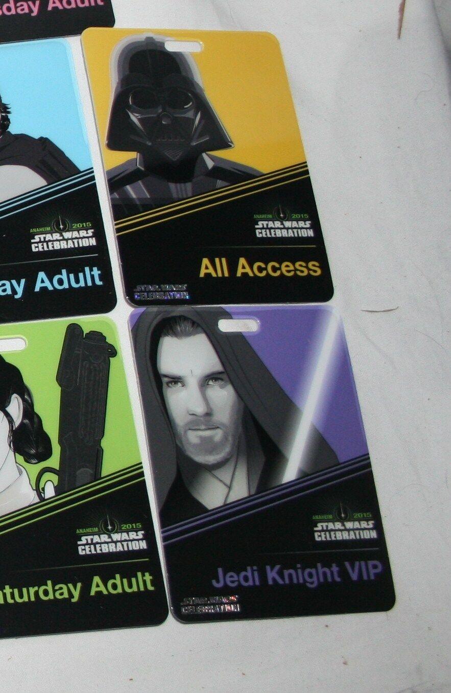 Star Wars celebration anaheim 2015 2015 2015 badge pass complete set 24fa88