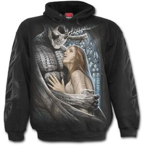 SPIRAL DIRECT Shadow Raven Hoodie//Tattoo//Goth//Skull//Gift//Raven//Rock//Xmas//Hood