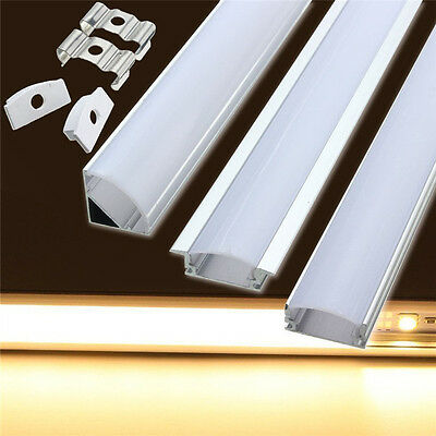 50CM Channel Aluminium Bar HEATSINK for Led Strip Light Cabinet Kitchen Bathroom