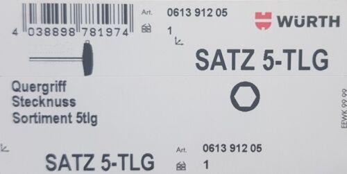 061391205 T Würth Steckschlüsselsatz mit Quergriff Griff 5 teilig Art