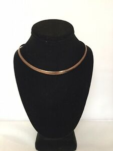 Joan-River-Thick-Snake-Choker-Chain-Brown-Stainless-Steel-16-inches
