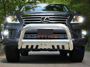 Details about 2008-2014 Lexus LX570 Stainless Bull Bar Front Bumper  Protector Grille Guard S/S