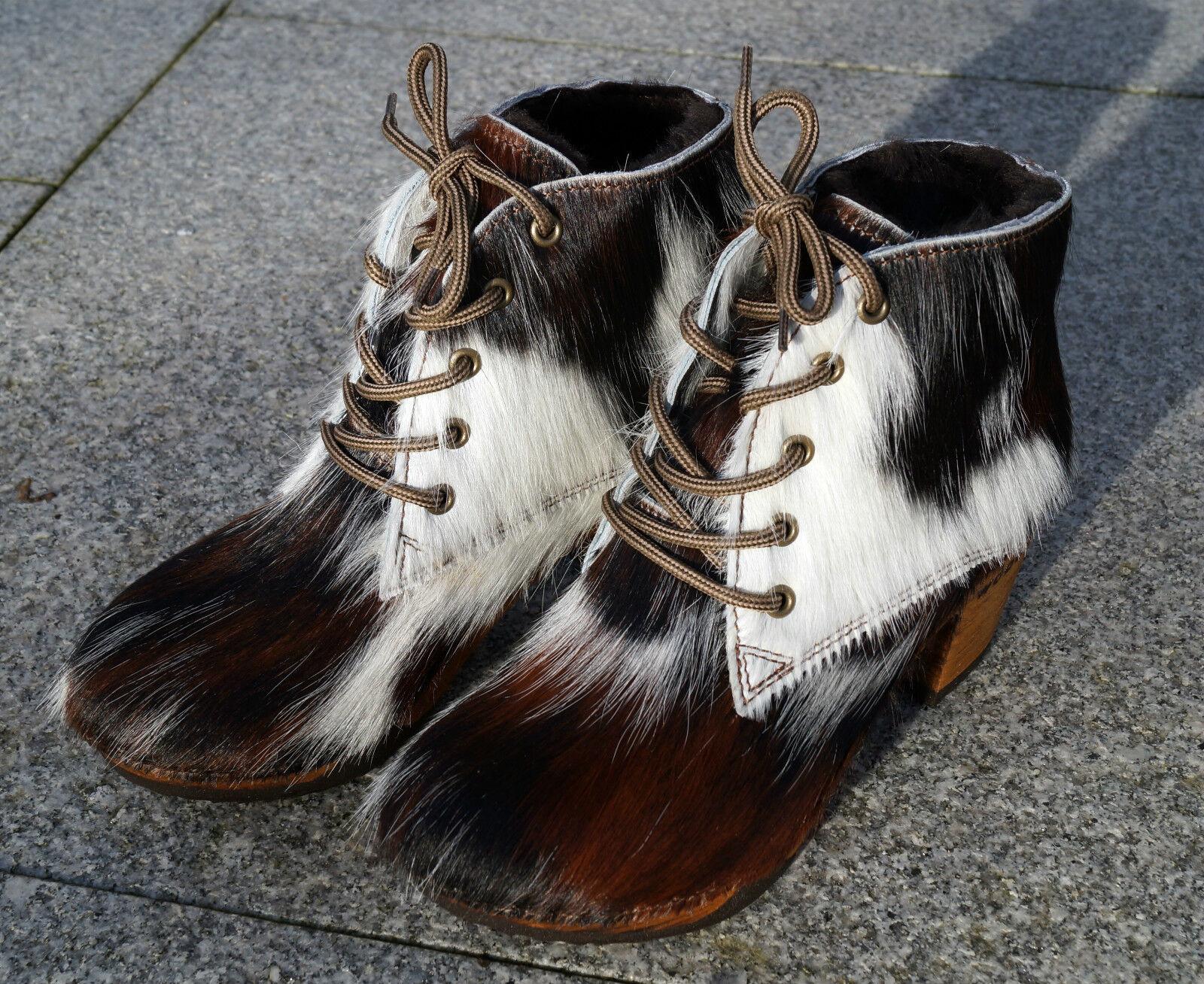 Woody Damen Stiefel Stiefelette wood-o-flex Fell Fell Fell Naturfell Gr. 36 - 42 gefüttert 763dbf