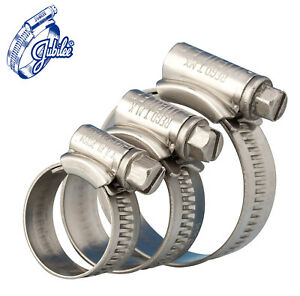 High Grade Worm Drive Jubilee Hose Clamps W1 Zinc Coated Fuel Line Hose Clips