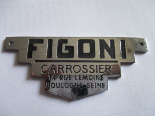Typenschild Schild Plakette S40 Figoni Delage Delahaye Bugatti alfa Hotchkiss