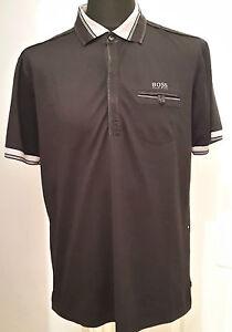4d6d711ac NEW Hugo Boss Green Slim Fit Moisture Manager Polo Shirt - Black XL