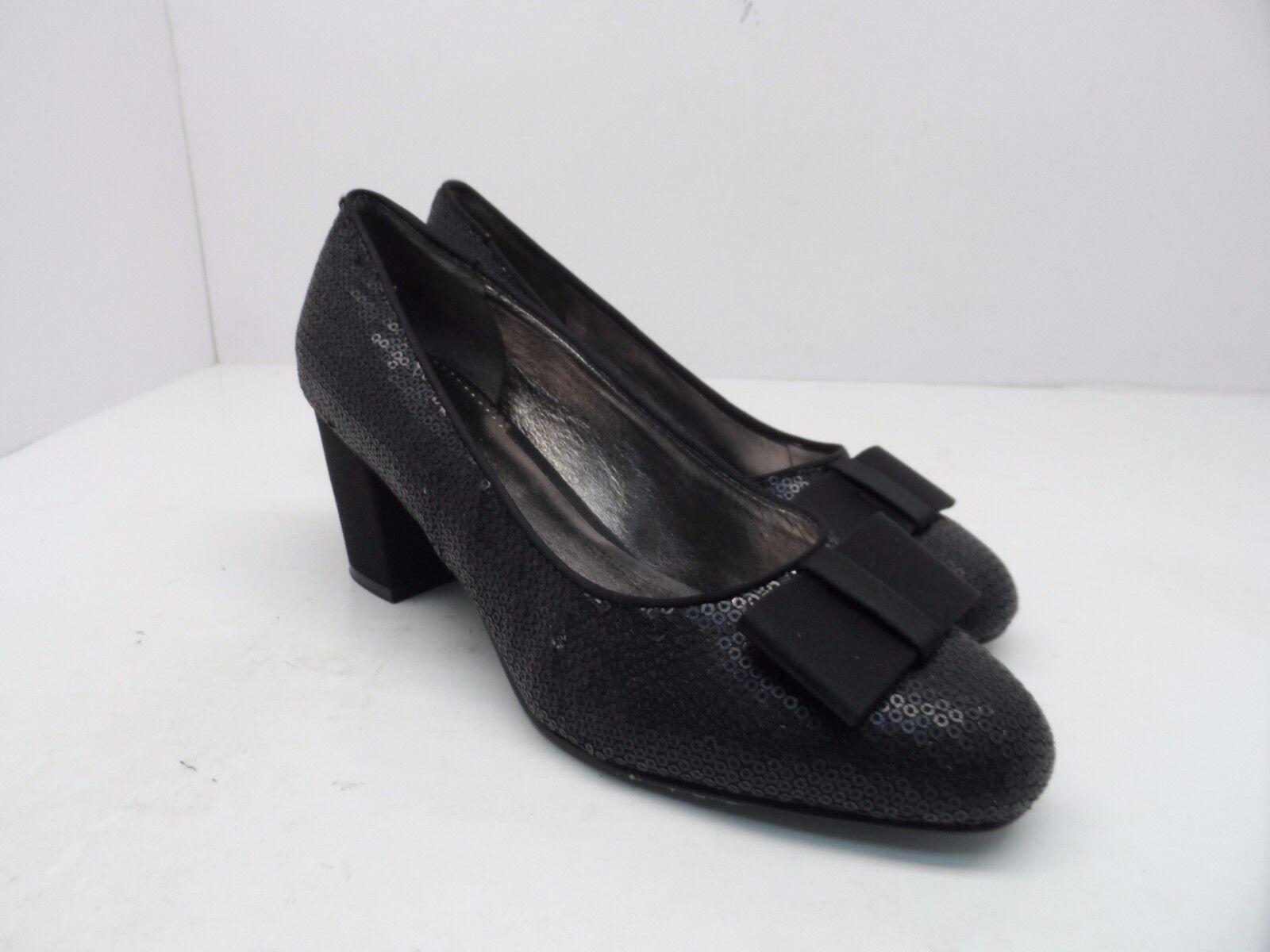 Trotters Women's Jillian Black II Sequin High Heels Black Jillian Size 7M 03bfab