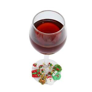 Christmas-Glass-Wine-Charms-Wire-Mark-Ring-Table-Decor-Holiday-Gift-4-Styles-Sha