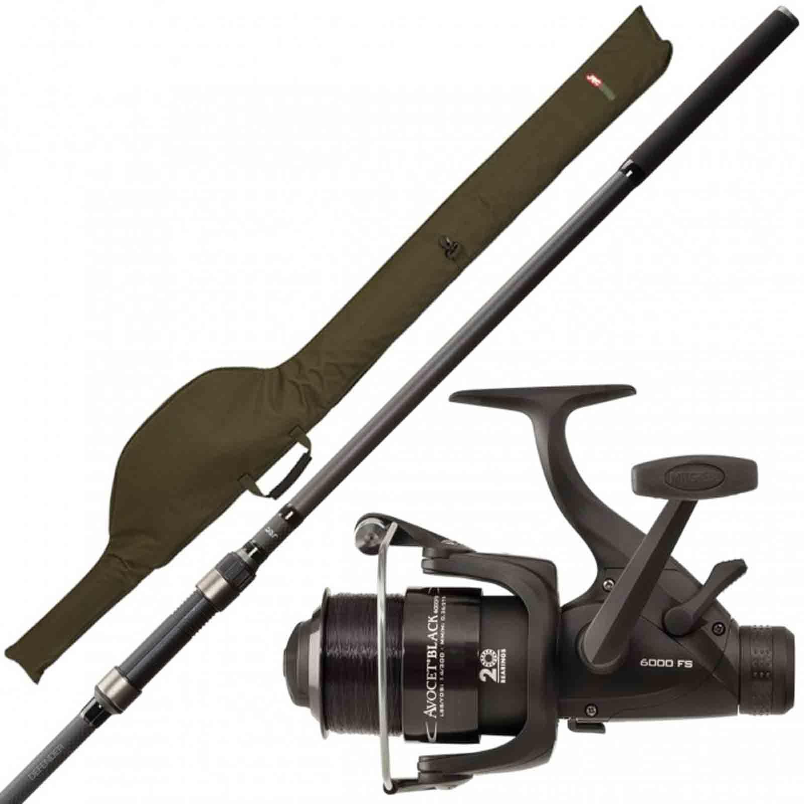 JRC Defender Rod & Reel Combo - 12ft 3 Piece Rod, Avocast 6000 Reel + Sleeve