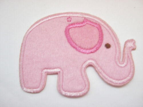"""Azul Elefante Rosa Parches Elefante Apliques De Hierro EN O COSE EN 8cm 3 /""""pulgadas"""