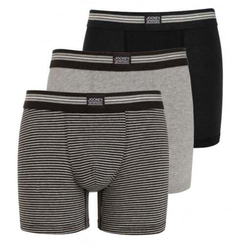 Nero Grigio Jockey 3-pack Cotton Stretch Men/'s Boxer Slip