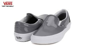 VANS-Classic-SLIP-ON-Patent-Street-Style-Fashion-Sneakers-Shoes-VN-03Z4IWP-Women