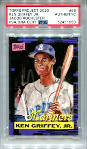 Ken Griffey Jr. Signed Topps Project 2020 Card #66 Inscribed 1989 Silver 1/1 PSA