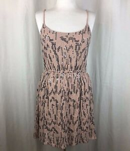 Anthropologie-Staring-at-Stars-Beige-amp-Silver-Sequin-Dress-Large