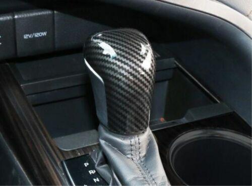 Car Interior Carbon Fiber Gear Shift Knob Head Trim For Toyota Camry 2018-2019
