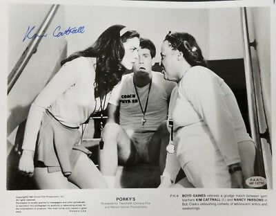 "Photographs Rare Photo ""porky's"" Kim Cattrall Hand Signed 8x10 B&w Photo Paas Coa Movies"