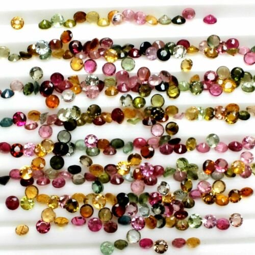 Details about  /NATURAL TOURMALINE 2.5MM ROUND CUT FACETED MULTICOLOR AAA QUALITY LOOSE GEMSTONE