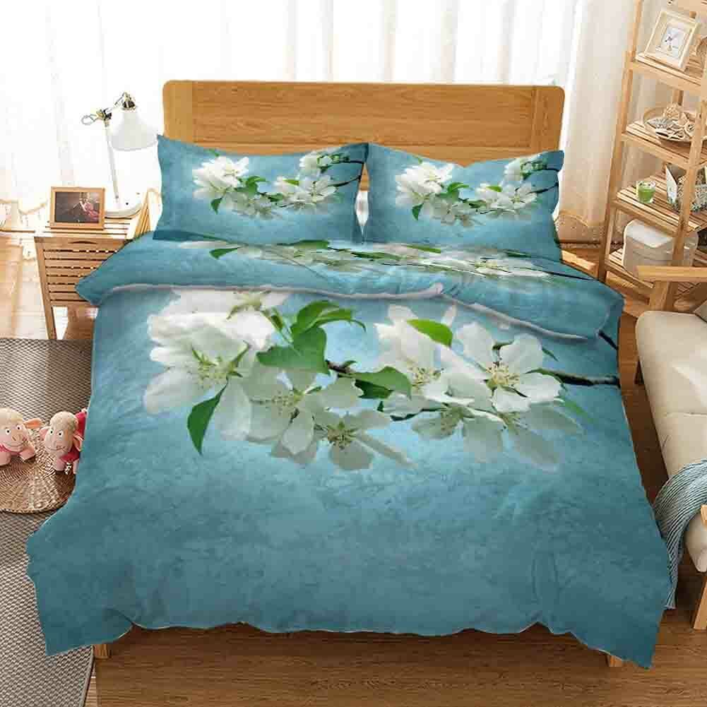 Pear Flowers Leaves 3D Printing Duvet Quilt Doona Covers Pillow Case Christmas