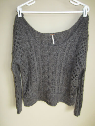 Cable Cold Sweater Grigio Charcoal Free Knit Shoulder Open People S Grigio Chunky Sf1S4YqA