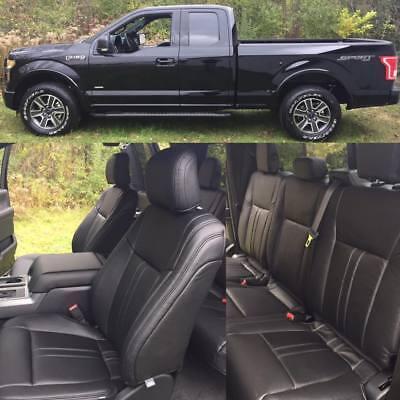 2019 2020 Ford F 150 Xlt Super Cab Katzkin Leather Seat Covers Kit Lariat Design Ebay