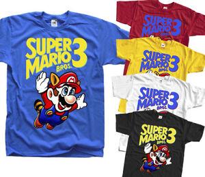 35be8d2c La imagen se está cargando Super-Mario-Bros-3-Nes-Camiseta-Amarillo-ARCADE-