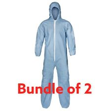 Lakeland Pyrolon Plus 2 Medium Lot Of 2 Isolation Coverall Protective Suit 07428