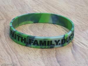 Image Is Loading Duck Commander Dynasty Green Camo Bracelet Faith Family
