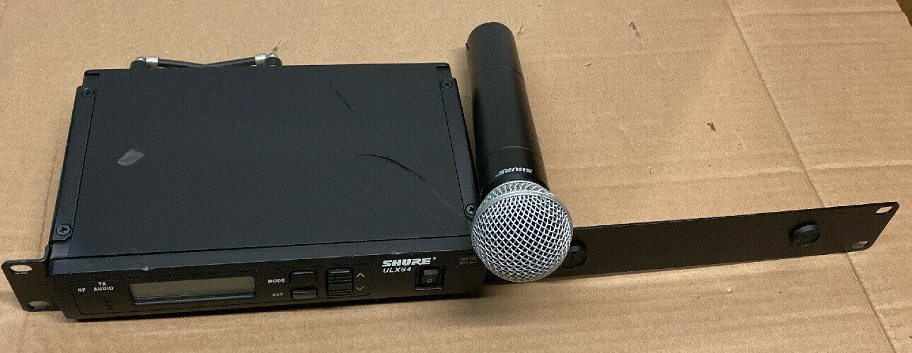 Shure ULXS4 ULX2 Receiver Handheld Wireless Microphone System.