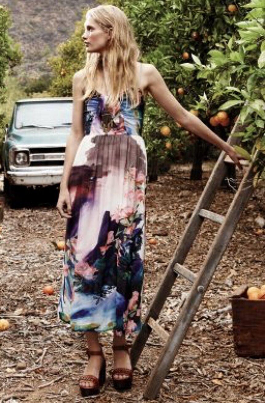 NEW Corey Lynn Calter Bold Floral Midi Dress removable straps P4