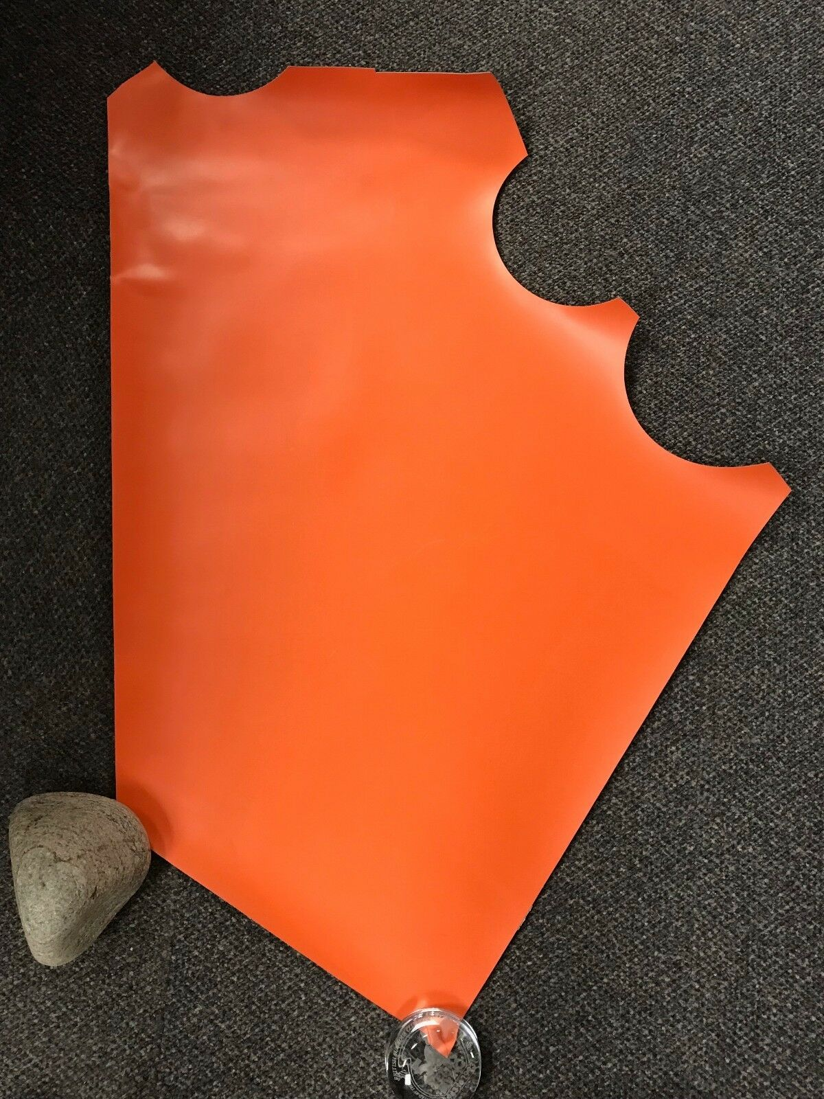 orange ORCA Hypalon FABRIC Inflatable Boat Material Repair Dinghy 75.5 x 64cm