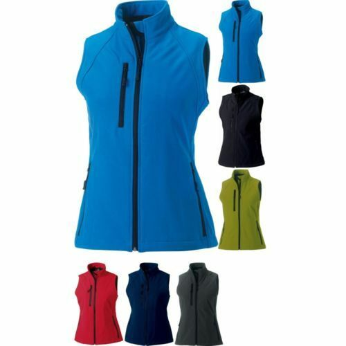 Donna Russell Softshell colore senza Maniche Gilet Top