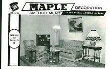 Publicité ancienne meubles Maple Paris IXème 1959