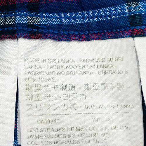 Levi/'s Performance Sunset Uno Bolsillo Azul Thermadapt Manga Larga CAMISA S M L