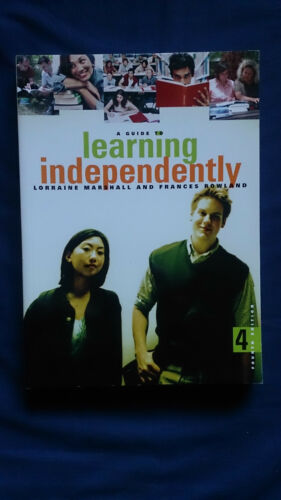 1 of 1 - A Guide to LEARNING INDEPENDENTLY Lorraine Marshall
